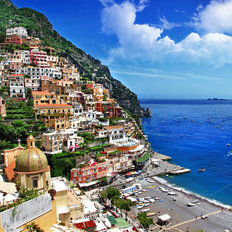Beautiful Positano Amalfi Coast Mural Wallpaper