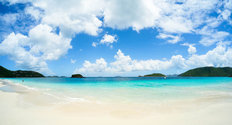 Caribbean Beach in The Virgin Islands Wallpaper Mural