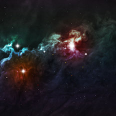 Dazzling Supernova Swirl Mural Wallpaper