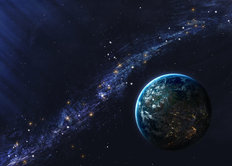 Andromeda and Earth Wall Mural