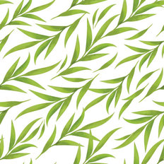 Beautiful Watercolor Green Leaves Pattern Wallpaper