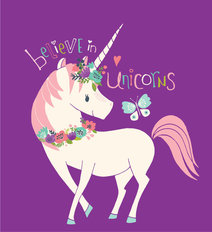 Believe In Unicorns Wall Mural