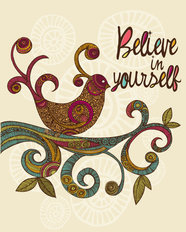 Believe In Yourself Mural Wallpaper
