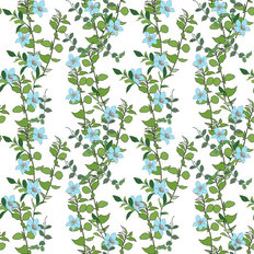 Bellis Floral Vines Mural Wallpaper