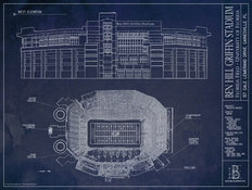 Ben Hill Griffin Stadium Blueprint Wall Mural
