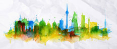 Berlin Watercolor Splash Wallpaper Mural