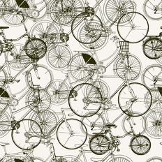 Bicycle Ride Pattern Wallpaper