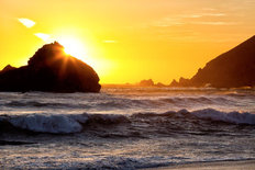 Big Sur Coast at Sunset Wall Mural
