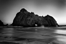 Big Sur Coast Monochrome Wall Mural