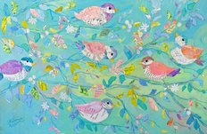Birds And Branches 2 Wallpaper Mural