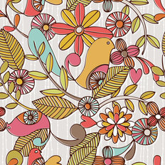 Birds and Flowers Wallpaper
