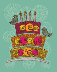 Birthday Cake Mural Wallpaper