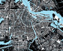 Black and White Amsterdam City Map Wallpaper Mural