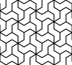 Black and White Geometric Pattern Wallpaper