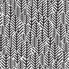 Black and White Leaf Pattern Wallpaper