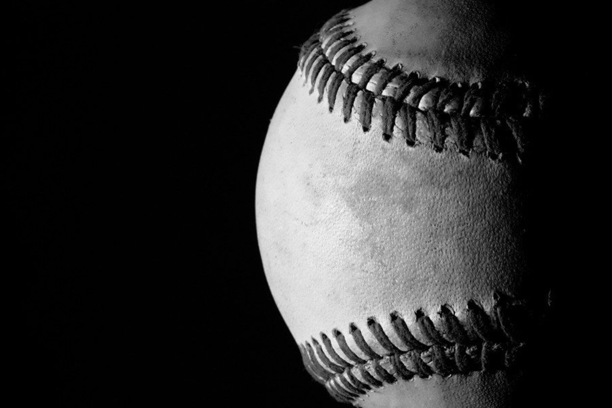 cool and inspirational black and white wallpaper of an old baseball
