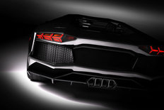 Black Sports Car In Spotlight Wall Mural