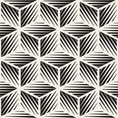 Black & White Geometric Cube Pattern Wallpaper