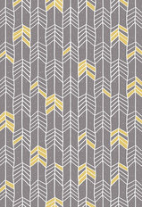 Block Print Feather Wallpaper