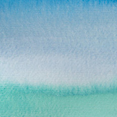 Blue and Teal Gradient Wall Mural