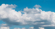 Blue Cloudy Sky Mural Wallpaper