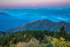 Blue Ridge Parkway North Carolina - Cowee Morning Wallpaper Mural