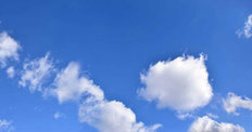 Blue Sky With Small White Clouds Wallpaper Mural
