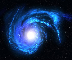Electric Blue Galaxy Spiral Wall Mural