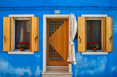 Blue Venice Doorway Wallpaper Mural