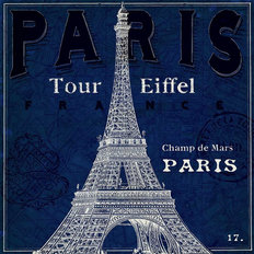 Blueprint Tour Eiffel Wallpaper Mural