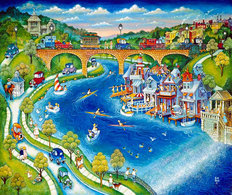 Boathouse Row Wallpaper Mural