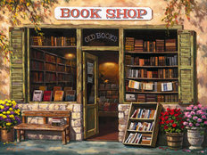 Book Shop Wall Mural