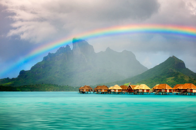 Bora-Bora-Bungalows-With-Rainbow-Over-Mt-Otemanu-Wall-Mural.jpg