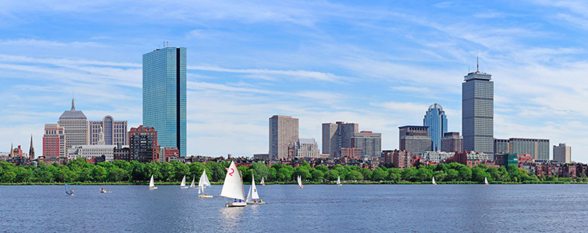Charles River, Boston Wallpaper Mural
