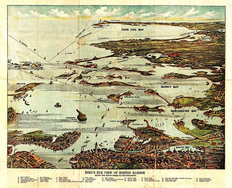 Boston Harbor 1899 Map Wallpaper Mural