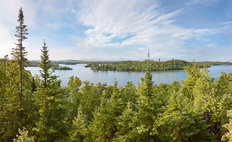 Boundary Waters, Brule Lake Morning Mural Wallpaper