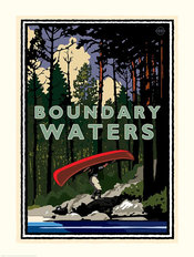 Boundary Waters Portage Mural Wallpaper