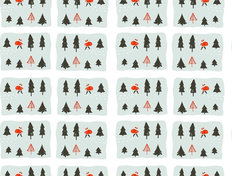 Boy In Santa Costume Pattern Wallpaper Mural