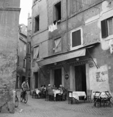 Boy On A Bicycle On A Street In Rome, 1955 Mural Wallpaper