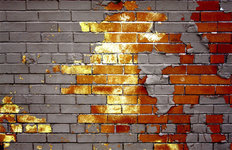 Bricks Through Time Wall Mural