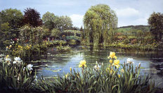 Bridge At Giverny Mural Wallpaper