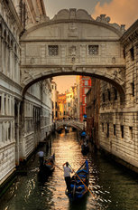 Bridge of Sighs at Sunset  Wallpaper Mural