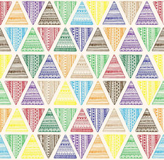 Bright And Colorful Triangles Wallpaper