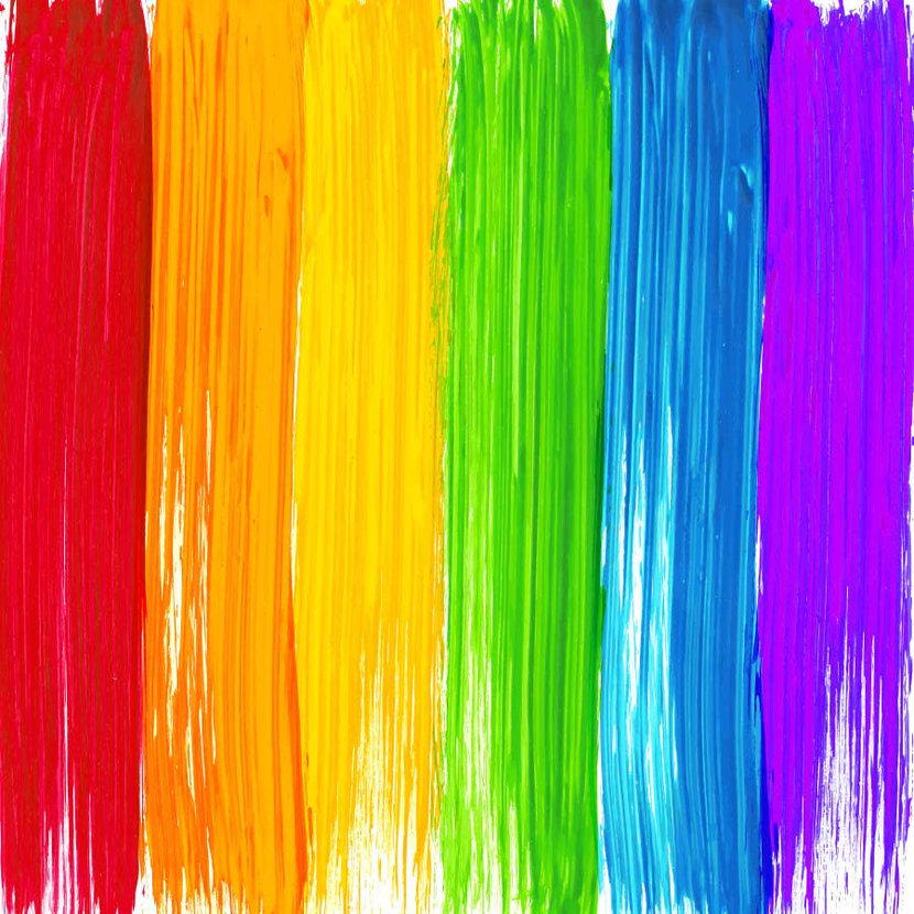 background of abstract rainbow paints colors dripping down