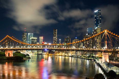 Brisbane Night Wallpaper Mural