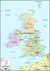 British Isles Map Mural Wallpaper