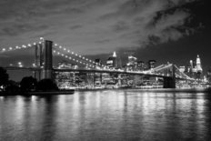 Brooklyn Bridge Night Wallpaper Mural
