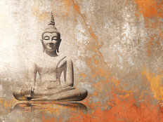 Buddha On Grunge Background Wallpaper Mural