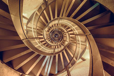 Building Spiral Staircase Wall Mural