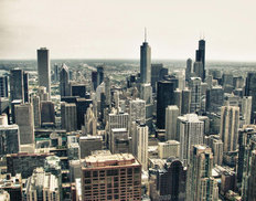 Buildings and Modern Skyscrapers - Chicago Mural Wallpaper